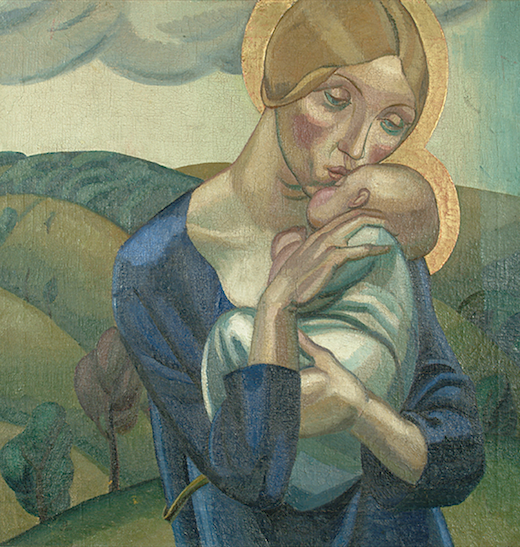 David Jones, Madonna and Child in the Landscaoe (1924)